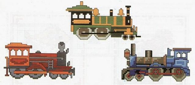 Транспорт - Схемы вышивки